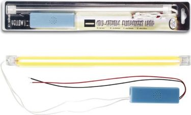 YELLOW COLD-CATHODE FLUORESCENT LAMP + POWER SUPPLY, 30cm FLPSY2
