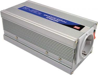 MEANWELL - MODIFIED SINE WAVE DC-AC POWER INVERTER - 12 V - 300 W - GERMAN PLUG A301-300-F3