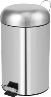 Toiletspand m. pedal - 12L. Inox HP100102