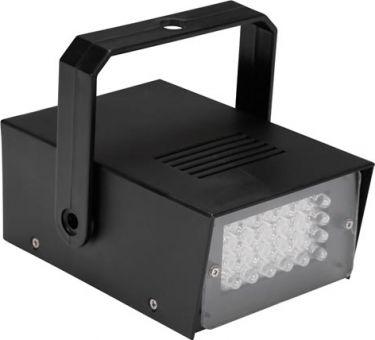 LED mini stroboskop - 24 x hvide LEDs, batteridrevet HQPL10001