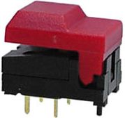 DIGITAST DIP PUSH-BUTTON SWITCH RED CAP - NO LED 86A11