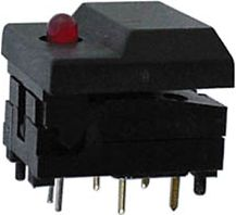 SP86-B2-5-1 DIGITAST sort med rød LED