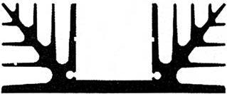 Køleplade 75mm 1 x TO3 2.5°C/W