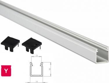 Lumines Lightning - Alu. LED profil - Type Y, Anodiseret alu. (1m)