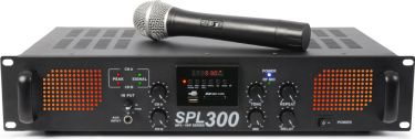 SPL 300VHF MP3 Amplifier Amber LED + EQ Black