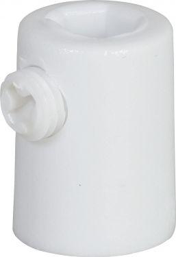 Klemmenippel - Indvendig gevind, Hvid (1 stk.)