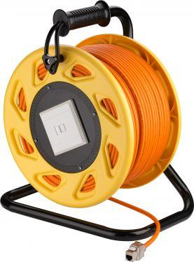 GOOBAY - Netværkskabeltromle - CAT6a S/FTP Orange (50m)