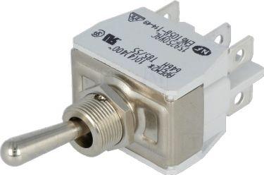 Vippekontakt - 2P ON-ON, 15A / 250VAC (Ø12,2mm)