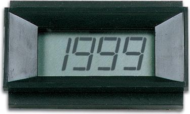 Digital LCD panelmeter - 3 1/2 ciffer, 9Vdc, HQ (68x44mm)