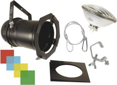 HQ Power - PAR56 lampesæt - Lang Sort m. pære, filtre og befæstning