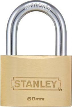 STANLEY - PADLOCK - SOLID BRASS - STANDARD SHACKLE - 60 mm S742-033