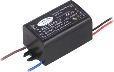 LED strømforsyning - 12V / 5W konst.spænding (IP67)