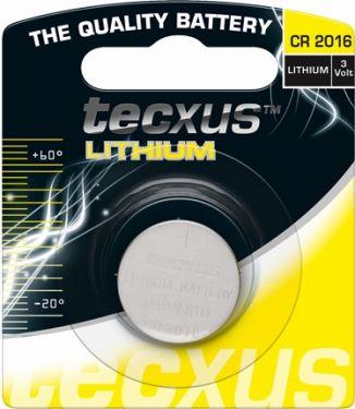 Tecxus - Tecxus - CR2016 Lithium knapcelle, 3V / 75mAh (1 stk.)