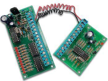 Velleman - K8023 - 2 tråds 10 kanal fjernbetjening