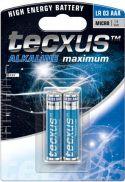 Tecxus - Tecxus - Alkaline AAA/LR03 batteri 1,5V (2 stk.)