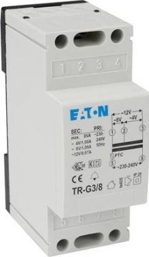 DIN-skinne strømforsyning - 230Vac ind > 4/8/12Vac ud (8VA)
