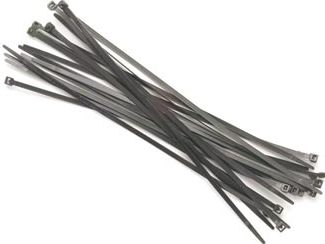 PEREL - Kabelstrips - 4,8 x 300mm, Sort (100 stk.)