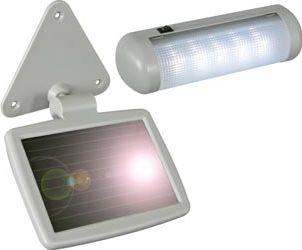 Solcelle LED lampe - Udendørs solpanel