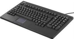 "Tastatur m. touchpad - USB, Passer til 19"" rack (Nordic)"