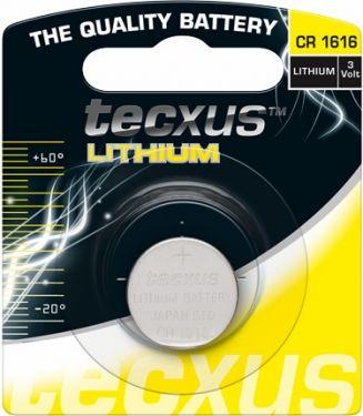 Tecxus - Tecxus - CR1616 Lithium knapcelle, 3V / 55mAh (1 stk.)
