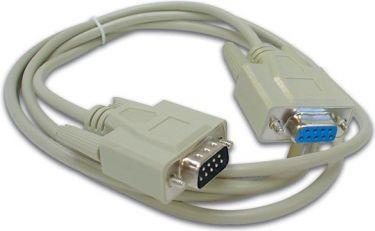 Seriel kabel - SUBD9 han til SUBD9 hun, Beige (10m)