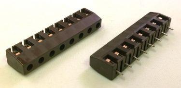 Skrueterminal - 8 pol, brun, 7,5mm benafstand