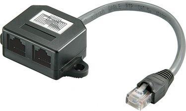 GOOBAY - RJ45 splitter - Port dobler 1:1 (15cm)