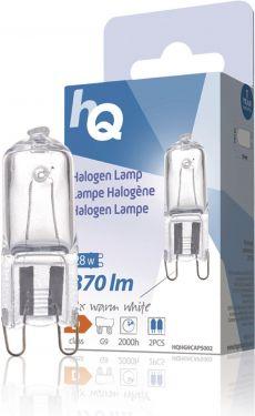 HQ - G9 halogenpære - 230V / 28W Klar, 2800K (2 stk.)