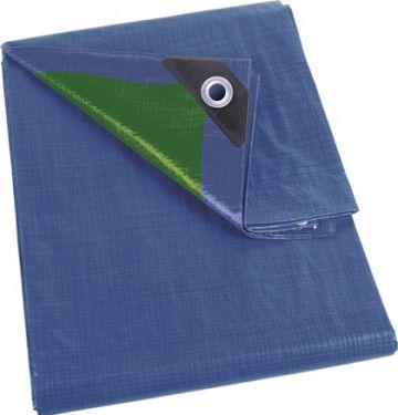 PEREL - Presenning - 5 x 8m, 90g Basic, Blå/grøn