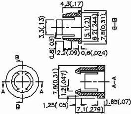 Monteringsholder til 5mm LED - Sort plast, 1 del (CB55)