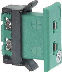 Fatning til K-type termostik - 2 pin, Grøn