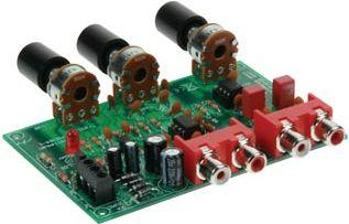 Velleman - K8084 - Volumen- og tonekontrol forforstærker