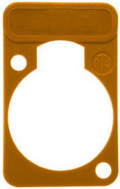 Chassis plade med label, orange