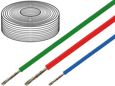 Silikoneledning - 0,75mm² trådet, 180°C Grøn (metervare)