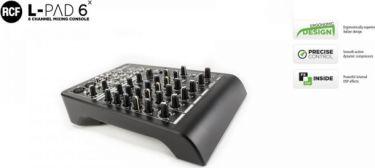 RCF Livepad 6X mixer, 2 Mic + 2xStereo Line m/effekt