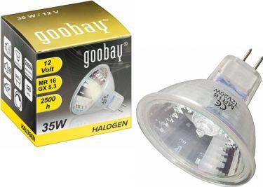 GOOBAY - MR16 halogenpære - 12V / 35W, 12° Hvid (2925K 2500h)