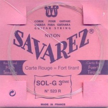 Savarez 523R Rød Klassisk streng G3, pak m/10stk