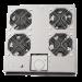 Serverkøler til fritstående kabinet med 4 blæsere, Grå FAS122G