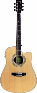 Santana LA90 Western guitar CW og MG30EQ, Natur HG