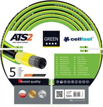 "Cellfast - Vandslange - Green ATS™, 1/2"" (50m)"