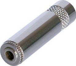 Minijack kabelfatning hun, stereo, metalhus, for 6mm