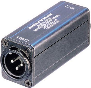 Adaptor XLR-han til BNC (75 til 110ohm)