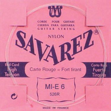 Savarez 526R Rød Klassisk streng E6, pak m/10stk