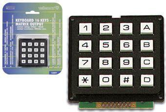 Tastatur 16 taster matrix udgang