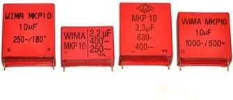 WIMA - MKP10 polypropylen kondensator - 1,5nF (0,0015uF) 400V 5mm