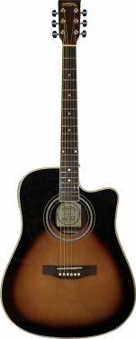 Santana LA90 Western guitar CW og MG3EQ, Sunburst