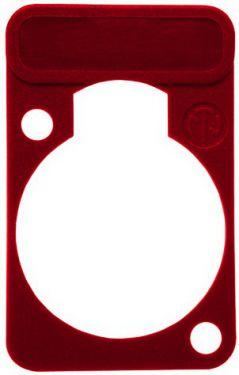 Chassis plade med label, rød