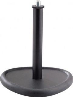 K&M bordstativ m/ 15cm opstanderrør, Sort