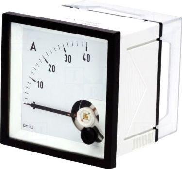 Analog strøm-panelmeter - 40A DC (72x72x58,5mm)