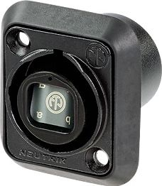 Opticalcon quad chassis hun, gennemføring, sort krom